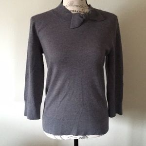 Kate Spade Gray Bow Sweater Size Medium